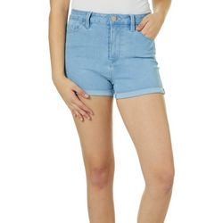 YMI Juniors No Muffin Top Roll Cuff Denim Shorts