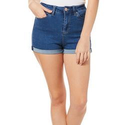 YMI Juniors No Muffin Top Roll Cuff Denim Shorts