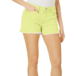 Juniors Love Neon Denim Shorts