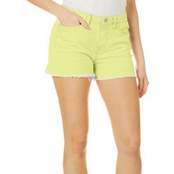 Juniors Love Neon Denim Shorts