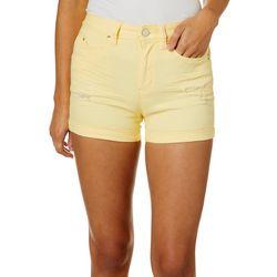 YMI Juniors WannaBettaButt High Rise Destructed Denim Shorts