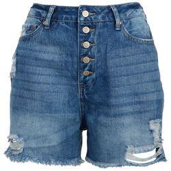 Royalty by YMI Juniors Novelty Wash Denim Shorts