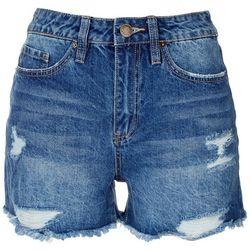 YMI Juniors Dreamy High Rise Denim Shorts