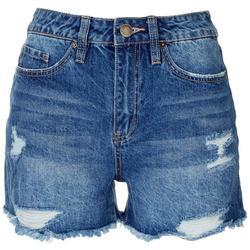 Juniors Dreamy High Rise Denim Shorts