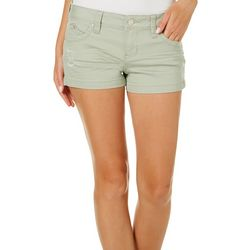 YMI Juniors WannaBettaButt Distressed Solid Shorts