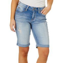 Juniors WannaBettaButt Roll Cuff Bermuda Shorts