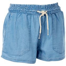 Juniors Solid Tie Shorts