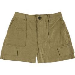 Juniors Solid Fabric Shorts