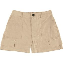 Love Tree Juniors Solid Fabric Shorts