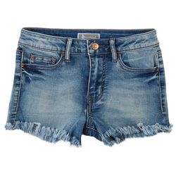 Soundgirl Juniors Frayed Hem High Rise Shorts