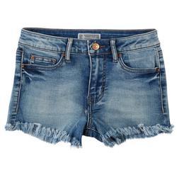 Soundgirl Juniors Frayed Hem High Rise Shorts