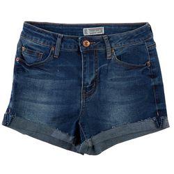 Soundgirl Juniors Cuffed Hem High Rise Denim Shorts