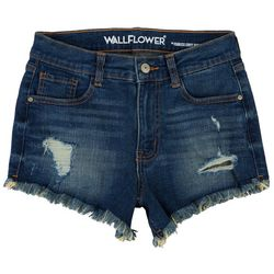 Wallflower Juniors Shorty Short Mid-Rise Shorts
