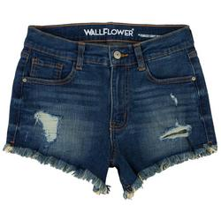 Juniors Shorty Short Mid-Rise Shorts