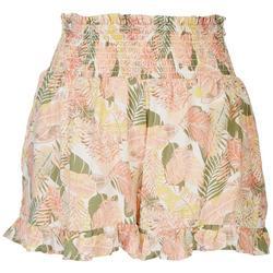 Juniors Smocked Waistline Shorts