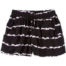 Derek Heart Juniors Tie Dye Elastic Fabric Shorts