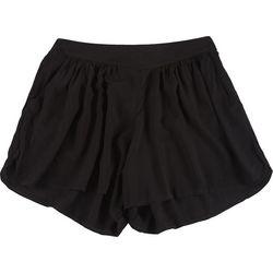 Boom Boom Juniors Solid Fabric Shorts
