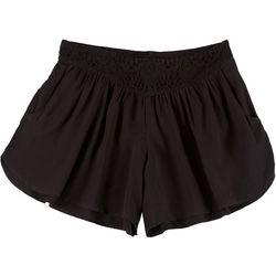 Boom Boom Juniors Lacey Elastic Solid Shorts