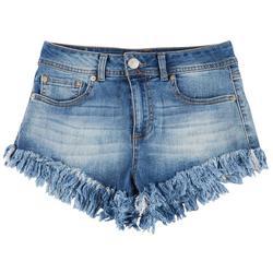Juniors High Rise Frayed Shorts