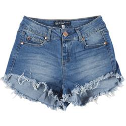Juniors Mid Rise Mullet Shorts