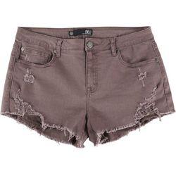 Boom Boom Juniors Frayed Hem Curved Shorts