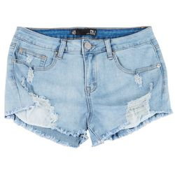 Boom Boom Juniors Frayed Hem Curved Shorts