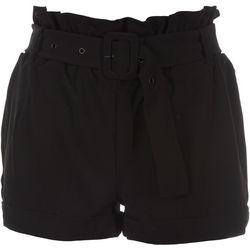 BOOM BOOM Juniors Paper Bag Belted Shorts