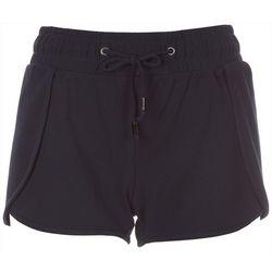 BOOM BOOM Juniors Solid Tie Waist Split Front Shorts