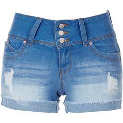 Royalty by YMI Womens Short Denim Shorts