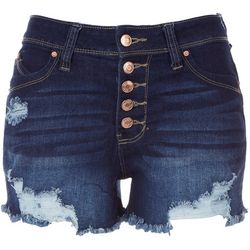 Royalty by YMI Womens Five Button Closure Denim Shorts