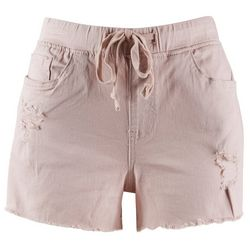 Royalty Womens Distressed Tie Shorts