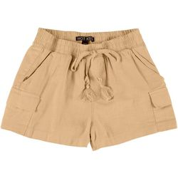 Juniors Solid Cargo Shorts