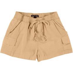 Juniors Solid Cargo Shorts