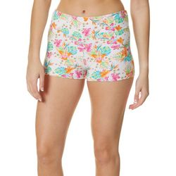 Hot Kiss Juniors Tropical Floral Print Pull On Shorts