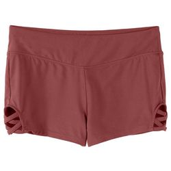 Hot Kiss Juniors Crisscross Side Solid Shorts
