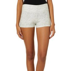 Hot Kiss Juniors Solid Heathered Pull On Shorts