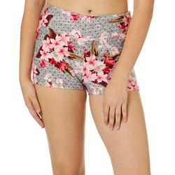 Hot Kiss Juniors Dotted Floral Pull On Shorts