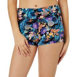 Hot Kiss Juniors Floral Pineapple Pull On Shorts