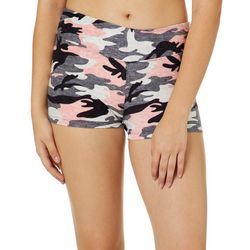Hot Kiss Juniors Camo Print Pull On Shorts