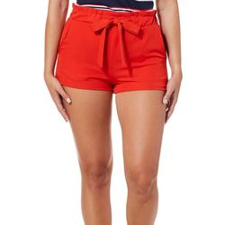 Hot Kiss Juniors Belted Solid Shorts