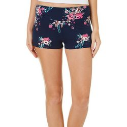 Hot Kiss Juniors Bright Floral Pull On Shorts