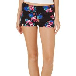 Hot Kiss Juniors Hibiscus Pull On Shorts