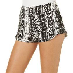 Hot Kiss Juniors Aztec Print Lattice Side Shorts