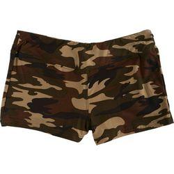 Hot Kiss Juniors Camo Print Stretch Shorts