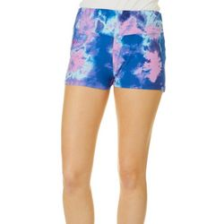 Hot Kiss Juniors Tie Dye Splatter Pull On Shorts