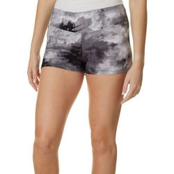 Hot Kiss Juniors Black Tie Dye Print Pull On Shorts