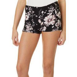 Hot Kiss Juniors Feminine Floral Print Pull On Shorts