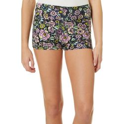 Hot Kiss Juniors Colorful Floral Print Pull On Shorts
