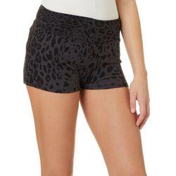 Hot Kiss Juniors Sublte Leopard Print Pull On Shorts