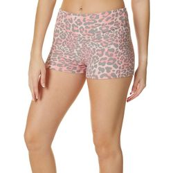 Hot Kiss Juniors Pink Cheetah Print Pull On Shorts